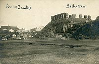 Zamek w Sochaczewie - Ruiny w Sochaczewie w okresie międzywojennym