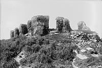 Zamek w Sochaczewie - Ruiny zamku w Sochaczewie w 1934 roku na zdjęciu Narcyza Witczaka-Witaczyńskiego