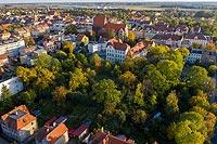 Zamek w Środzie Śląskiej - Zdjęcie lotnicze, fot. ZeroJeden, X 2019