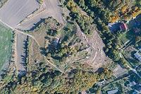 Zamek w Starogrodzie - Zdjęcie lotnicze, fot. ZeroJeden, X 2018