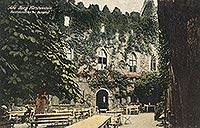 Zamek w Starym Książu - Stary Książ na pocztówce z okresu międzywojennego