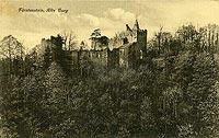 Zamek w Starym Książu - Ruiny zamku w okresie międzywojennym