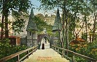 Zamek w Starym Książu - Brama wjazdowa w okresie międzywojennym