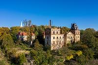 Zamek w Stolcu - Zamek na zdjęciu lotniczym, fot. ZeroJeden, X 2020