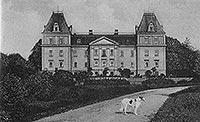 Zamek w Stolcu - Zamek w Stolcu na pocztówce z 1929 roku