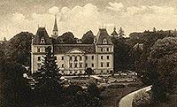 Zamek w Stolcu - Zamek w Stolcu na pocztówce z okresu międzywojennego