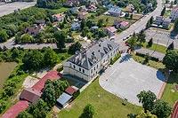 Zamek w Stopnicy - zdjęcie lotnicze, fot. ZeroJeden, VII 2020