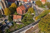 Zamek w Strzegomiu - Zdjęcie lotnicze, fot. ZeroJeden, X 2019