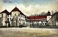 Dwór w Suchej Beskidzkiej - Zamek w Suchej około 1906 roku