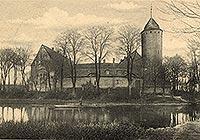 Zamek w Świdwinie - Zamek w Świdwinie na pocztówce z 1902 roku