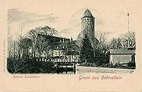 Zamek w Świdwinie - Zamek w Świdwinie na pocztówce z 1890 roku