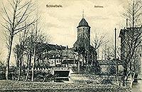 Zamek w Świdwinie - Zamek w Świdwinie na pocztówce z 1909 roku