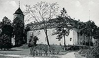 Świdwin - Zamek w Świdwinie na pocztówce z okresu międzywojennego