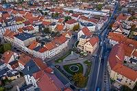 Zamek w Świebodzicach - Zdjęcie lotnicze, fot. ZeroJeden, X 2019