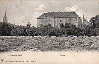 Zamek w Świebodzinie - Zamek w Świebodzinie na widokówce z 1905 roku