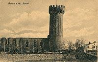 Zamek w Świeciu - Zamek w Świeciu na pocztówce z 1920 roku