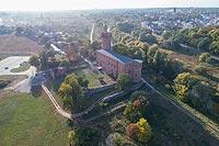 Zamek w Świeciu - Zdjęcie lotnicze, fot. ZeroJeden, X 2018