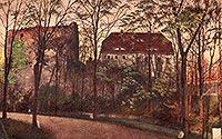 Zamek w Świeciu - Zamek w Świeciu na pocztówce z 1928 roku