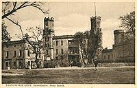 Zamek w Świerklańcu - Zamek w Świerklańcu na pocztówce z lat 1935-1944