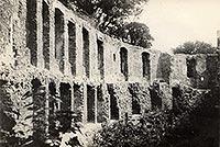 Świerklaniec - Ruiny zamku w Świerklańcu na zdjęciu z 1949 roku
