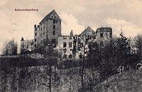 Zamek Świny - Zamek Świny w początkach XX wieku