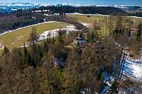 Zamek w Szaflarach - Zdjęcie lotnicze, fot. ZeroJeden, IV 2021