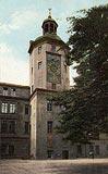 Zamek w Szczecinie - Zamek na pocztówce z okresu międzywojennego