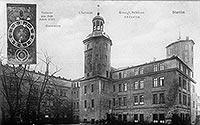 Zamek w Szczecinie - Zamek w Szczecinie na pocztówce z okresu międzywojennego