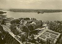Zamek w Szczecinku - Zamek w Szczecinku na zdjęciu lotniczym z 1930 roku