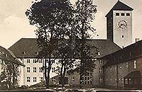 Zamek w Szczytnie - Przedzamcze na pocztówce z 1939 roku