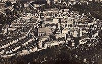 Zamek w Szprotawie - Szprotawa na zdjęciu lotniczym z 1922 roku