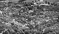 Zamek w Szprotawie - Szprotawa na zdjęciu lotniczym z 1935 roku