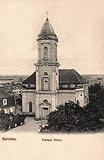 Zamek w Szprotawie - Zamek w Szprotawie na widokówce z okresu międzywojennego
