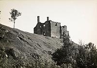 Zamek w Szydłowie - Pozostałości zamku w Szydłowie na zdjęciu Henryka Poddębskiego z około 1936 roku
