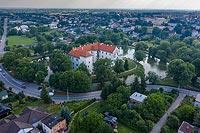 Zamek w Szydłowcu - Widok zamku na zdjęciu lotniczym, fot. ZeroJeden, VI 2019