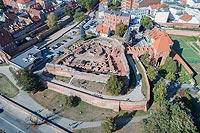 Zamek w Toruniu - Zdjęcie lotnicze, fot. ZeroJeden, X 2018