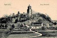 Zamek w Toszku - Zamek w Toszku w okresie międzywojennym