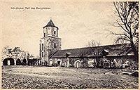 Zamek w Toszku - Zamek w Toszku na pocztówce z 1925 roku