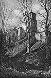 Zamek w Toszku - Zamek w Toszku na pocztówce z 1921 roku