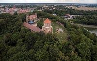 Zamek w Toszku - Widok z lotu ptaka, fot. ZeroJeden, VII 2018