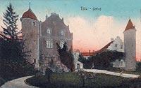 Zamek w Tucznie - Zamek w Tucznie w 1918 roku