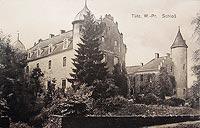 Zamek w Tucznie - Zamek w Tucznie na widokówce z okresu międzywojennego