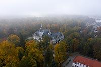Zamek w Tułowicach - Zamek na zdjęciu lotniczym, fot. ZeroJeden, X 2020