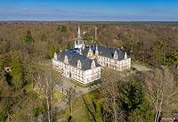 Zamek w Tułowicach - Zdjęcie lotnicze, fot. ZeroJeden, IV 2021
