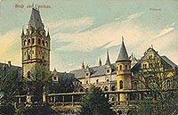 Zamek w Tworkowie - Zamek w Tworkowie na pocztówce z 1905 roku
