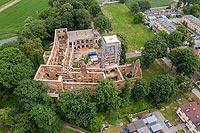 Zamek w Tworkowie - Zdjęcie lotnicze, fot. ZeroJeden, VI 2019