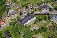 Zamek w Tworogu - Zdjęcie lotnicze, fot. ZeroJeden, VI 2020