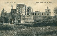 Zamek Krzyżtopór w Ujeździe - Zamek Krzyżtopór na pocztówce z 1909 roku