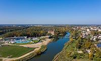 Zamek w Uniejowie - Zdjęcie lotnicze, fot. ZeroJeden, X 2019
