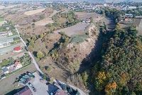 Zamek w Unisławiu - Zdjęcie lotnicze, fot. ZeroJeden, X 2018